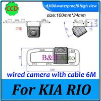 Effective Pixels 728*582 For KIA RIO Car Reverse backup Camera CCD HD car rearview parking back camera