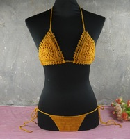 Exclusive Bilayer crocheted bikini set, Tops Bottom, can be adjusted. honeymoon hippie, beach, swimming pools, spas yacht bikini
