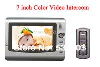 7 inch Color door phone Video Intercom Home door inetercom system CMOS Pinhole Camera Outdoor door phone Panel
