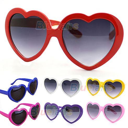 1PC Fashion Retro Funny Summer Love Heart Shape Lolita Sunglasses Sun Glasses Gift 1NLR(China (Mainland))