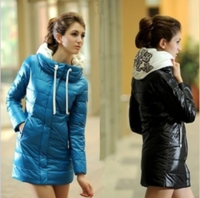 2013 autumn and winter women slim down cotton-padded jacket female wadded jacket female medium-long cotton-padded jacket