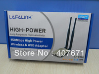 5PCS/LOT LAFALINK LF-D300 Dual 6dBi Antennas 150Mbps High Power High Gain USB Wireless Network Wifi Adapter Free shipping
