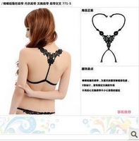 A0173 halter-neck bow lace cutout butterfly flower diamond shoulder strap 900