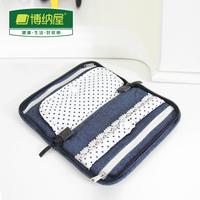 2014 Promotion Sale Dot Women Messenger Bags Boehner Denim Series Jewelry Storage Bag Cosmetic Travel Accessories Sorting Bags