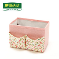 2014 Hot Sale New Freeshipping Boehner Desktop Storage Box Rustic Cotton Cloth Supplies Skin Care Products Cosmetics Finishing