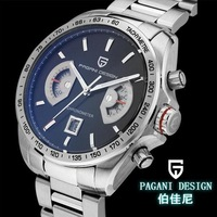 Pagani Design Racing Chronograph Mens famous brand waterproof sports watch big dial watch scratch (CX-2445A)