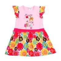 FREE SHIPPING H3752P#  Nova baby girls sleeveless spring summer dress  with beautiful printing