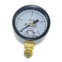 Free shipping M10*1 40mm Dia 0-4.0Mpa Water Oil Hydraulic Air Pressure Gauge Universal Gauge