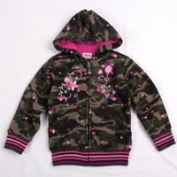 FREE SHIPPING F3336#  Nova kids wear spring autumn green zipper long sleeve hoodies for girls