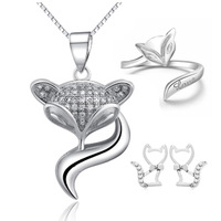 Lucky love Fox Necklace Jewelry Set High Quality