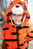2013 New Baby Boy Animal Outwear Flannel Tiger Costume Cloak Children Winter Bindbreak Kids Autumn Outfit Cap For 0-3 year Wear