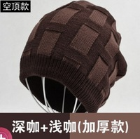 Knitted hat male hat thermal winter hats Men's cap Outdoor caps