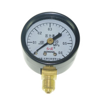 Free shipping 0-0.6Mpa Water Oil Hydraulic Air Pressure Gauge Universal Gauge M10*1 40mm Dia