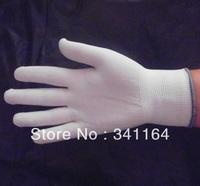 safety nylon gloves, Labor supplies cleanroom anti-static yarn nylon gloves, 12pcs/lot, 13 needles, cheap, wholesale