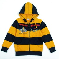FREE SHIPPING A3028# Nova kids wear 18m/6y coats printing shoes zipper spring winter striped hoodies for baby boys