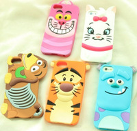 New Design Cartoon Animal Silicon Soft Back Case For Apple iPhone5 5S 5G