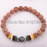 Free shipping 10pcs/lot Buddha Rudraksha wooden beads mala Budi-ci beaded bracelet Linden Budi malas Buddhism item Free shipping