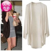 2013 women's fashion cape cardigan loose plus size batwing sleeve mm female outerwear