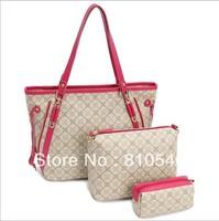 2013 new tide Europe style lady handbags/3 of set women's shoulder bag portablePU bag wholesale