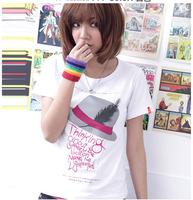 One piece price ! 2013 lovers summer short-sleeve T-shirt home shirt o-neck plus size loose fashion basic shirt