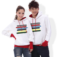 1pc Price! 2013 lovers sweatshirt outerwear autumn and winter pullover casual clothing thickening fleece sweatshirt