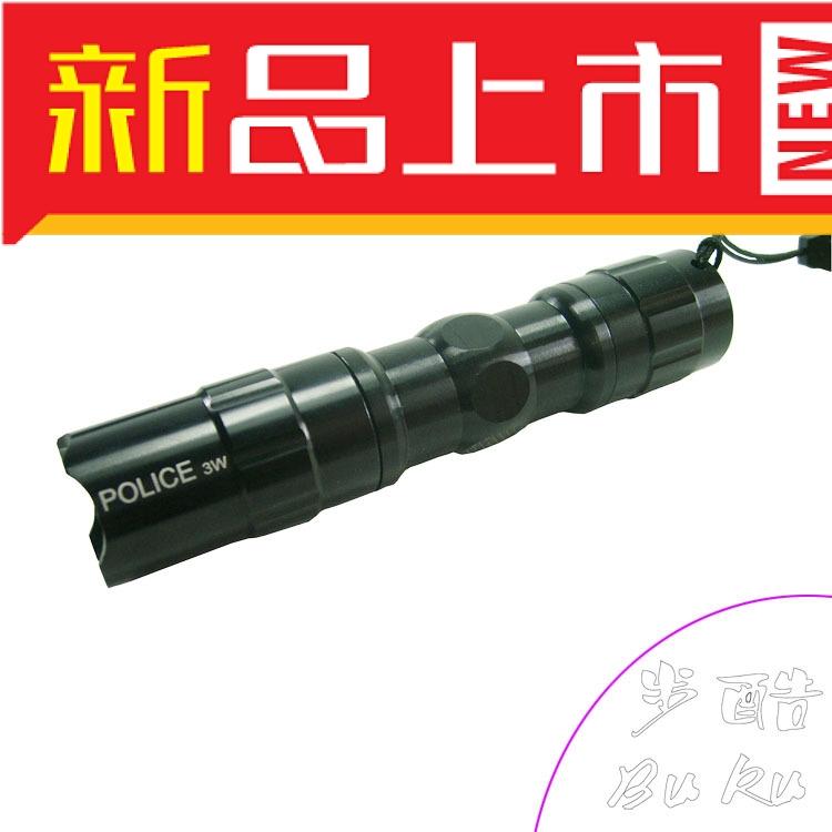 Free shipping Field outdoor 3w Small mini strong light flashlight led lighting(China (Mainland))