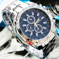 FREE SHIPPING 2013  Fashion Luxurious Japan movement brand Steel quartz watch women men  rhinestone dress wrist watch