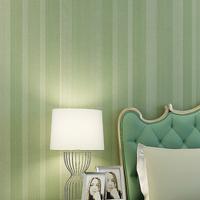 Eco-friendly non-woven wallpaper modern silver thickening brief vertical stripe background wallpaper