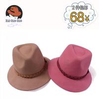 Pure woolen autumn and winter fashion women's jazz hat wide brim tails fedoras millinery