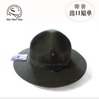 100% Wool Fedora,High-End wool Felt Fedora,Military wool hat,Officer Fedoras