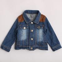 New arrival d071304 autumn female child denim outerwear denim coat