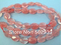 free shipping natural faceted 8mm*10mm cherry quartz oval beads 10strands/lot