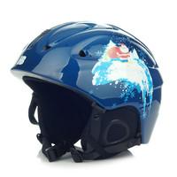 Free shipping Children's ski helmets ski equipment size M and S blue