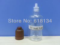 Wholesale Free shipping--30ml PET childproof cap bottle with regular tip each size for 500pcs by FedEx E-cigarette