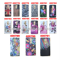 100pcs/lot free shipping plastic hard case flower pattern UK USA flag hard cover case For LG Optimus G2 f320