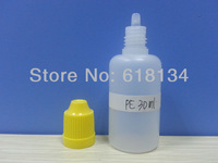 Free shipping--30ml PE childproof cap bottle with normal tip for 1700pcs