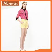 2013 New Fashion Autumn Winter Loose Elegant Casual Women Chiffon Blouse with Cartoon print, Long Sleeve Women Shirt, S M L, 574