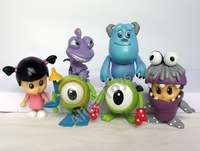 Monster Inc. University Cosbaby mini figure toy 6pc set 5-8 cm