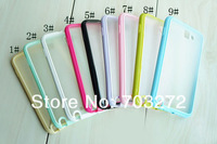 10 Different Colors TPU Bumper PC Matte Clear Hard Case Cover For Samsung Galaxy Sii S2 I9100 Freeshipping 5pcs/lot