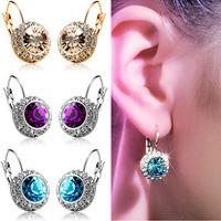 Wholesale 2014 Popular Accessories Crystal Earrings Rhinestone Stud Earrings For Women brincos