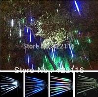 1 set 8 Tube 30 cm 18 LED total 144 LED Meteor Shower Rain Tube Light Outdoor Tree Decoration AC 220V 110V-240V Wholesale!