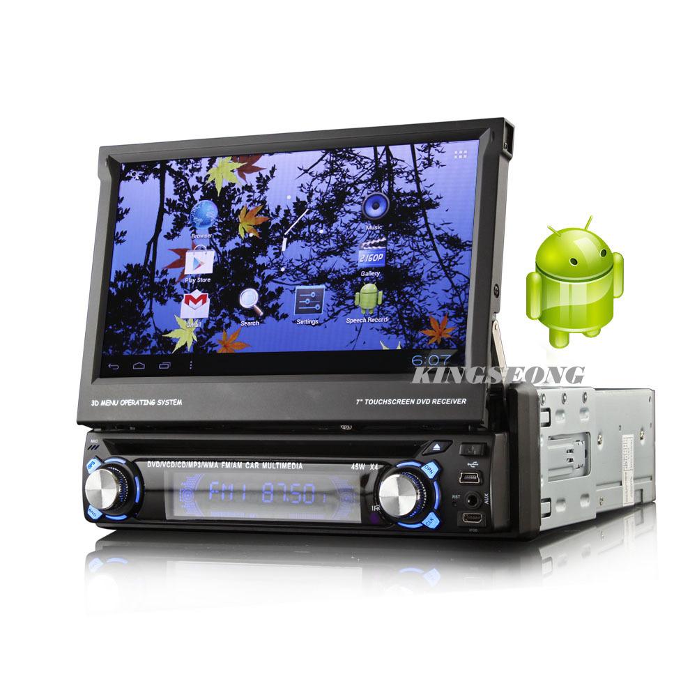 Android 4.0.4 1 din autoradios mit cd dvd player mit gps wifi radio 3gisdb- t( ein segment) spielen- Shop 1GB DDR3 frei 4gb karte karte ks8500