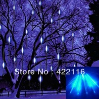 Multicolors LED Meteor Shower Rain Tube Light Outdoor Tree Decoration Wedding lamps Garlands 1set 8 Tube 20cm 10 SMD Wholesales