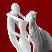 Free Shipping Wedding Favor   Bride & Groom Ceramic Figurine Wedding Cake Topper Perfect attachment
