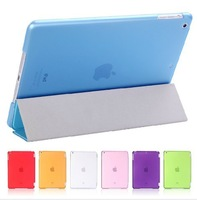 20pcs/lot.DHL/EMS Free.2013 Folding Ultra Thin Magnetic Leather Smart Case Cover + Hard TPU Back Cover For iPad Air/ipad 5 4 3