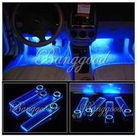 4 LED Car Interior Dash Floor Foot Decoration Light Lamp Car Cigarette Lighter