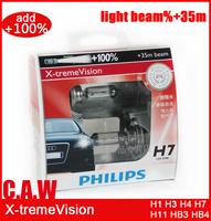 Free shipping Genuine X-tremeVision H1 H3  H4 H7 H11 9005 HB3 9006 HB4 3400K Car HeadLight Bulb Halogen Light Brighten 35M range