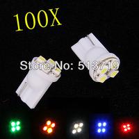 Whole Sale!!! car led auto led w5w 194 4SMD T10 4LED 4 LED smd 3528 1210 Wedge lamp Bulbs Car Side Indicator Light 100pcs/lot
