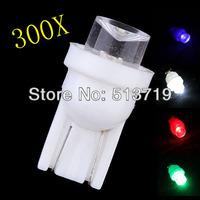 Free shipping Wholesale 300pcs/lot white T10 194 168 W5W 158 2825 1 LED Car Wedge Light Bulbs