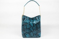 High quality original brand PVC gold chains blue snake skin women handbag shoulder bag fashion gift free shipping wholesale S836